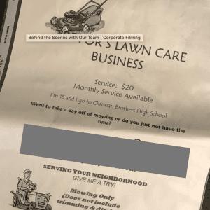 Trevor Rappleye - Lawn Care Business